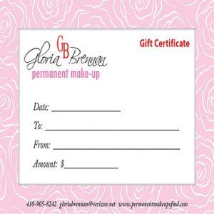 Gift Certificate-Gloria Brennan