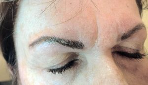 Asymmetrical eyebrows