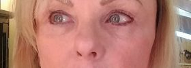 Permanent eyebrows color correction - Gloria Brennan